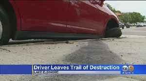 Police In Lake Elsinore Look For Hit-And-Run Driver Who Left Trail Of Destruction [Video]