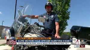 KCPD motorcycle officer shares story of surviving crash with suspected drunk, distracted driver [Video]