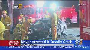 Driver Arrested After Crash Kills Bicyclist In Downtown LA [Video]