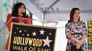 Awkwafina Honors Anne Hathaway On Hollywood Walk Of Fame [Video]