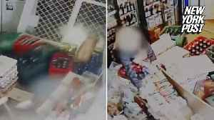Thirsty woman barrels into liquor store with her car [Video]