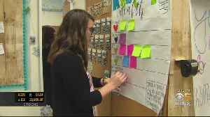 News video: Fremont Teacher's Post-It Note Board Prompts Students To Open Up About Mental Health