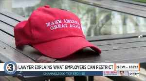Lawyer explains how workplaces can restrict political clothing, items [Video]