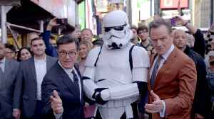 Stephen & Bryan Cranston's Times Square Adventure [Video]