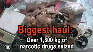 Biggest haul: Over 1,800 kg of narcotic drugs seized from Greater Noida [Video]