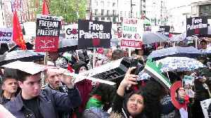 Palestinian protests in London include icon Ahed Tamimi 71 years on from Nakba [Video]