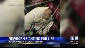 Newborn fighting for his life after inheriting condition with 'astronomical' odds [Video]