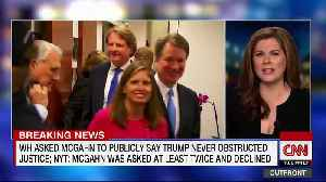 News video: Trump Slams His Former White House Counsel Don McGahn: 'Never A Big Fan!'
