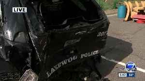 Lakewood police: Officer making DUI arrest rear-ended, injured by another drunk driver [Video]