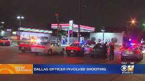 Dallas Officer Shoots, Injures Aggravated Assault Suspect At Gas Station [Video]