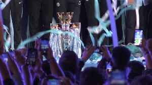 Guardiola and players celebrate title win with fans at Etihad [Video]