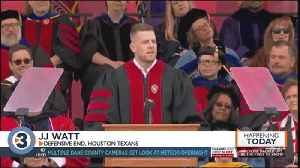 News video: More than 7,000 students participate in graduation at Camp Randall with speaker JJ Watt