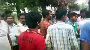Violence erupts at polling station during general election in India [Video]
