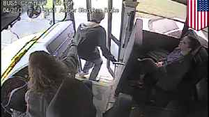 Heroic bus driver stops student from getting hit by car [Video]