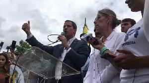 Juan Guaido Discusses Contacting US Military During Rally in Caracas [Video]