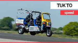 Mad-cap motorist breaks the world record for top speed travelled in a TUK-TUK [Video]