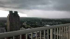 Massive storm wall approaching city of Raleigh, North Carolina [Video]
