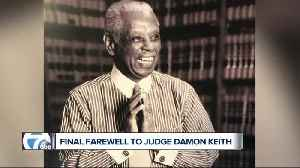 """A giant in law, in civil rights, and in life,"" Judge Damon Keith celebrated during funeral service in Detroit [Video]"