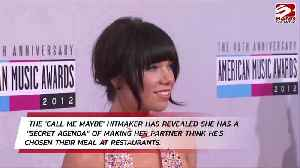 Carly Rae Jepsen shares food on dinner dates [Video]