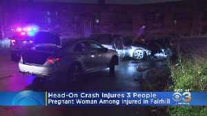 Head-On Crash Injures 3 People, Including Pregnant Woman, In Fairhill [Video]
