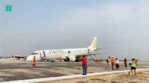 Plane Lands On Its Nose In Myanmar [Video]