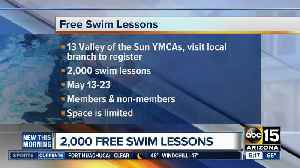 2,000 free swim lessons at YMCA [Video]