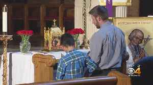 Catholics Line Up To See Relic Of St. John Vianney [Video]