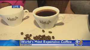 News video: $75 Cup Of Coffee Available For Sale In SoCal