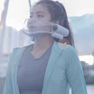 Air pollution mask cleans the breathing space around your face [Video]