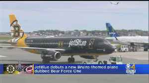 JetBlue Debuts Bruins-Themed Plane 'Bear Force One' [Video]