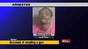 News video: Man arrested in Byron, Police say he stole gun