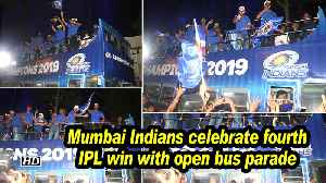 Mumbai Indians celebrate fourth IPL win with open bus parade [Video]