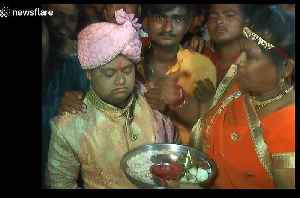 Family organises wedding ceremony for groom who 'couldn't find a partner' in India [Video]