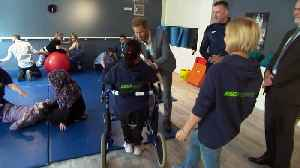Prince Harry visits OXSRAD Sports Centre in Oxford [Video]