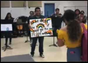 Texas Student 'Over the Rainbow' When Classmate Says Yes to Prom [Video]