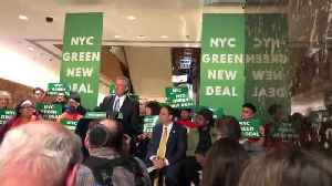 Bill De Blasio Climate Change Speech At Trump Tower 3 [Video]