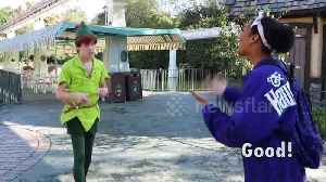 Magical moment Peter Pan signs to hearing-impaired teen at US Disneyland [Video]