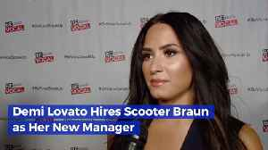 Scooter Braun And Demi Lovato Are Working Together [Video]