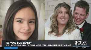 Web Extra: Push For School Bus Safety In N.J. [Video]
