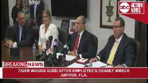 Tiger Woods, girlfriend sued after employee's deadly wreck | News Conference [Video]