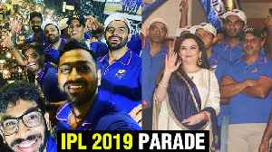 Mumbai Indians Open Bus Parade CELEBRATIONS With Fans | Antilia, Ambani House [Video]