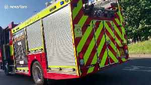 News video: Warehouse fire brought under control in north London