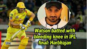 Watson batted with bleeding knee in IPL final: Harbhajan [Video]