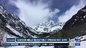 Maroon Bells will tentatively open May 24 [Video]