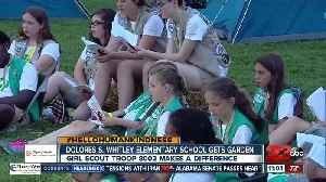 Local girl scouts make a difference at an elementary school [Video]