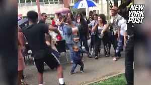 Cute tot dominates this college dance party [Video]