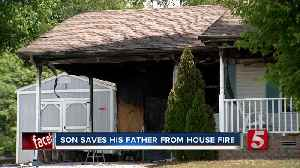 Son saves his father from burning home in Robertson County [Video]