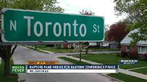News video: Raptors fan begin to invade Milwaukee for Game 1 of the Eastern Conference Finals