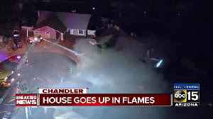 Chandler home goes up in flames [Video]