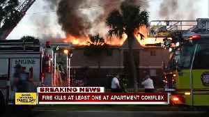 At least 1 person killed in two-alarm fire at Town 'n' Country apartment complex [Video]